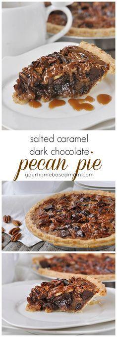 salted caramel dark chocolate pecan pie