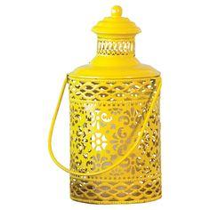 Casablanca Candle Lantern #yellow #ornate