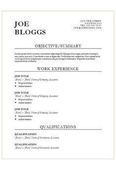 Bold Black CV Template   How To Write A CV