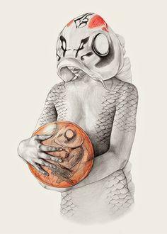 Elisa Ancori's Drawings Of Half-Dissected Mermaids