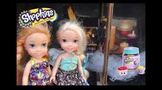Anna and Elsa Toddlers Shopkins Treasure Hunt Part 1 Haunted House Paw P...
