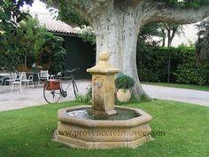Fontaine centrale en pierre L\'Octogonale 170 cm avec 4 sorties ...