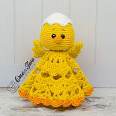 Coco The Little Chicken Lovey Crochet Pattern