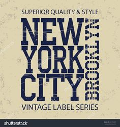 New York Brooklyn Typography Fashion, T-Shirt Graphics Banco de ilustração…
