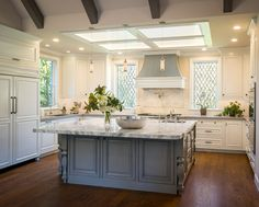 Skylight, beamed ceiling-Timeless and Traditional