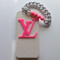 Hot Pink LV White Faux Snake iPhone Case at lionspridebymeri.bigcartel.com