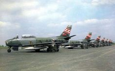 Sabres of 421 Squadron Royal Canadian Air Force at RCAF Station Grostenquin, France.