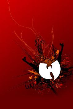 Abstract Wu Tang Logo iPhone Wallpapers