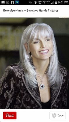 Emmy LOU Harris- she just gets more and more beautiful with age.  What style!