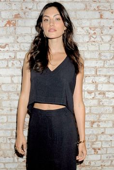 Phoebe Tonkin attend the Maiyet Show at New York Fashion Week, 14/09/2015.