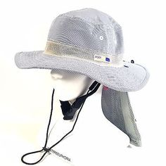 ROXY Women's Outdoor Hiking Camping Bucket Sun Hat with Neck Cover Striped Navy