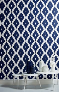 Wonderful contemporary take on the Ikat trend from Kelly Hoppen's new wallpaper range