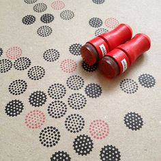 Mini points Rubber Stamp / / jeu de 2 timbres Mini