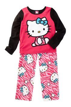 Hello Kitty Fleece PJ Set (Little Girls
