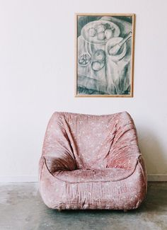 Vintage Puffy Pink Armchair / available at Super Marché