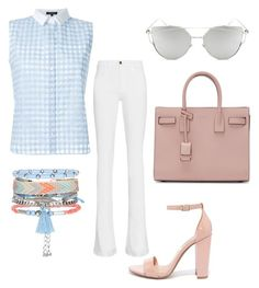 """""""le flaire"""" by crahmatika on Polyvore featuring Frame Denim, Steve Madden, Loveless, Chicnova Fashion, Yves Saint Laurent and New Look"""