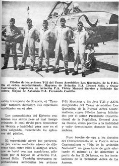 Historia Militar de Guatemala: Día de la aviación nacional y cincuentenario de la F.A.G. celebrados brillantemente (1971)