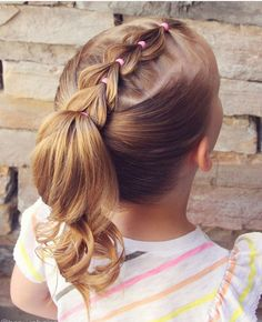 10 Braided Pigtail Styles for Your Girls Style Style When talking about girls hairdo, the braided pigtail will always be the best choice as it has many pretty and … Girls Hairdos, Cute Hairstyles For Kids, Baby Girl Hairstyles, Girl Haircuts, Ponytail Hairstyles, Ponytail Ideas, Childrens Hairstyles, Woman Hairstyles, Hairstyle For Baby Girl
