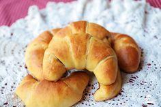 Martinské rožky - Chuť od Naty Chuť od Naty: blog o chutnom jedle a kvalitnom živote Recipe Images, Bagel, Food And Drink, Bread, Blog, Basket, Brot, Blogging, Baking