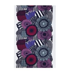 A fresh garden scene is always available when you spread this whimsical tablecloth. Maija Louekari interpreted community gardens tucked through the city in the Marimekko Siirtolapuutarha White/Violet/G