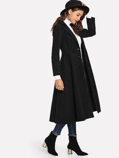 Shop Single Breasted Shawl Collar Outwear online. SheIn offers Single  Breasted Shawl Collar Outwear  amp 7ee49304dd1c