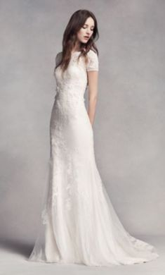 Vera Wang wedding dresses designed a stunning collection for David's Bridal at an affordable price. Try on a gorgeous Vera Wang White designer wedding gown today! Davids Bridal, Dream Dress, Wedding Designs, Wedding Ideas, Wedding Decorations, Decor Wedding, Rustic Wedding, Bridal Dresses, Women's Dresses