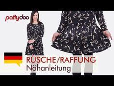 Eine Bluse aus Viskosestoff nähen - mit Abnähern, Beleg und Rückenschlitz - YouTube