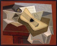 Guitare et journal (Guitarra y periódico). 1925 (julio-septiembre). Óleo sobre lienzo, 65 x 81 cm. Museo Reina Sofía. Obra de Juan Gris