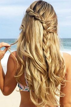 Cool And Must-Have Summer Hairstyles For Women; Must-Have Summer Hairstyles; Summer Hairstyles For Women; Messy Braided Hairstyles, Box Braids Hairstyles, Hairstyles Haircuts, Bohemian Hairstyles, Layered Hairstyles, Curly Hairstyle, Long Haircuts, Modern Haircuts, School Hairstyles