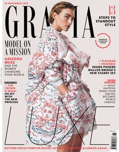 Arizona Muse on Grazia UK November 2019 Cover Fashion News, Fashion Models, Fashion Show, Luxury Fashion, Arizona Muse, Grazia Magazine, 12 November, Covergirl, On Set