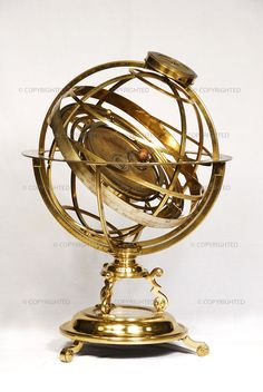 Richard Glynne (18th century) Armillary sphere-orrery, ca. 1720 Oxford, Museum of the History of Science, inv. 57605  This instrument is a combination of an armillary sphere and a new kind of planetarium called an orrery. It demonstrates the structure of the Copernican universe.