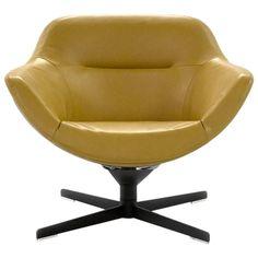 Cassina Auckland Swivel Lounge Armchair by Jean-Marie Massaud 1
