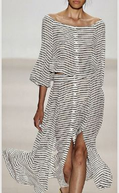 24e9e6a2240 Black And White Striped Maxi Dress Fashion Show