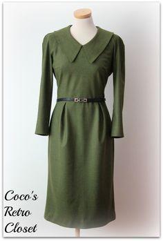 Moss green nerdy dress (yum!)