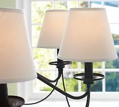 Pb basic silk chandelier shade set of 3 potterybarn 6 diameter 5 lighting shades accessories pottery barn mozeypictures Image collections