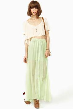 lost spring maxi skirt $68