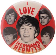 Hermans Hermits | Busy Beaver Button Museum