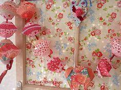 Valentine Cupcake Garland - Cottage Gal Style