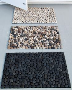 Pebble doormat for the kitchen or patio area?