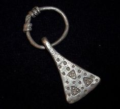 VIKING Ancient SILVER AMULET - AX / AXE - Great Details Circa 700-900 AD   -4587