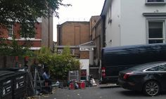 And my own picture of the left of the building. Thats the big wall to Studio 1 at the back.