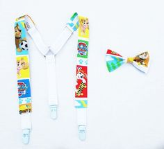 Paw Patrol Suspenders and Bow tie Set Hipster by GeekFashionSource