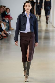Jil Sander Spring 2015 Ready-to-Wear Fashion Show - Xiao Wen Ju