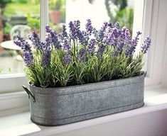 Lavender Cottage: English #Lavender Zinc Windowbox Planter | Bloom.