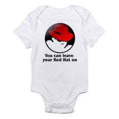 red hat linux t-shirt Infant Bodysuit