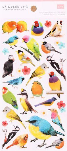 kawaii bird parrot parakeet stickers by Mind Wave 2