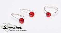 Set cercei și inel swarovski cu bază din argint 925! #simoshop #bijuterii #accesorii #argint #swarovskicrystals #swarovski Swarovski, Earrings, Shopping, Jewelry, Ear Rings, Stud Earrings, Jewlery, Jewerly, Ear Piercings