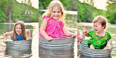 cute bucket pictures & green dress