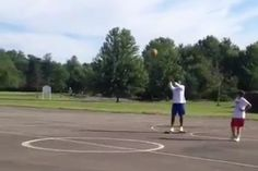 Mad. Skills. http://bleacherreport.com/articles/2524922-guy-riding-a-longboard-sinks-shot-from-34-court  #longboard #sport #downhill #extreme #mobile #video #games #ios #android #amazon #fridayfunny #IndieDev