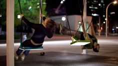 really cool idea: musical light swings on the streets of montreal.